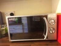Russell Hobbs silver microwave