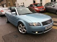 AUDI A4 CONVERTIBLE SPORT 2.4 AUTOMATIC PETROL 2003 FULL LEATHER BOSE SOUND 1 P/KEEPER HPI CLEAR