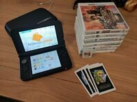 Red/Black 3DS XL + 8 Games including Super Mario 3D World, Zelda and Pokémon