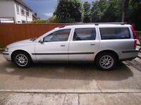 2001 Volvo V70 in silver with MoT to June 2017, 141k miles, recent tyres, exhaust, battery & starter