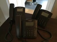 Business Polycom telephones x3