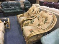 Wicker conservatory sofa set 2 nd hand