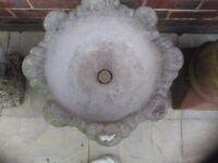 Ornate garden / patio flower pots / bird bath