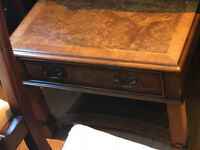 Iain James burr walnut side table - top quality item