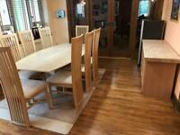 Marble Dining Table & 8 Chairs