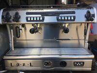 2 group coffee machine laspazali fully serviced