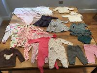 3 - 6 Months Baby Girl Clothes Bundle - 29 items (inc. Benetton, JoJo, John Lewis, Gap, M&S)