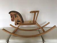Vintage plywood rocking horse