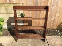 Solid Oak Book Shelf
