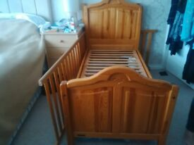 mammas pappas cotbed with mothercare mattress