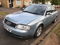 Audi A6 1.9 TDI SE 1896cc Turbo Diesel 5 speed manual 4 door saloon 52 Plate 27/09/2002 Blue