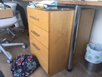2x Sturdy Steamed Beech Office Drawers - Collection only ASAP from Soho, London