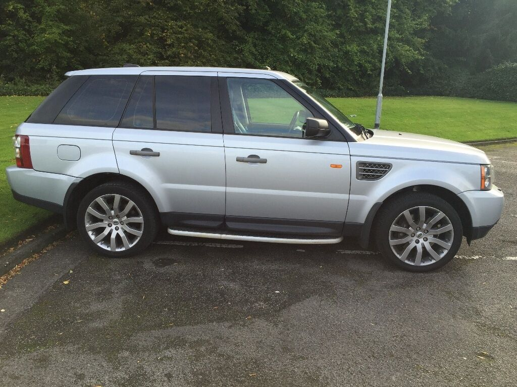 39 2008 range rover sport hse silver black leather 39 px swap why in potters bar. Black Bedroom Furniture Sets. Home Design Ideas