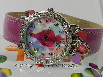 Betsey Johnson Watch Trolls Collection Analog Crystals Poppy