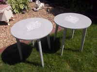 Pair Of Grey Shabby Chic Bedside Tables
