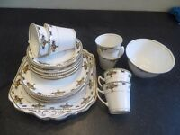 Duchess China tea Set with bowl of fruit and bird design