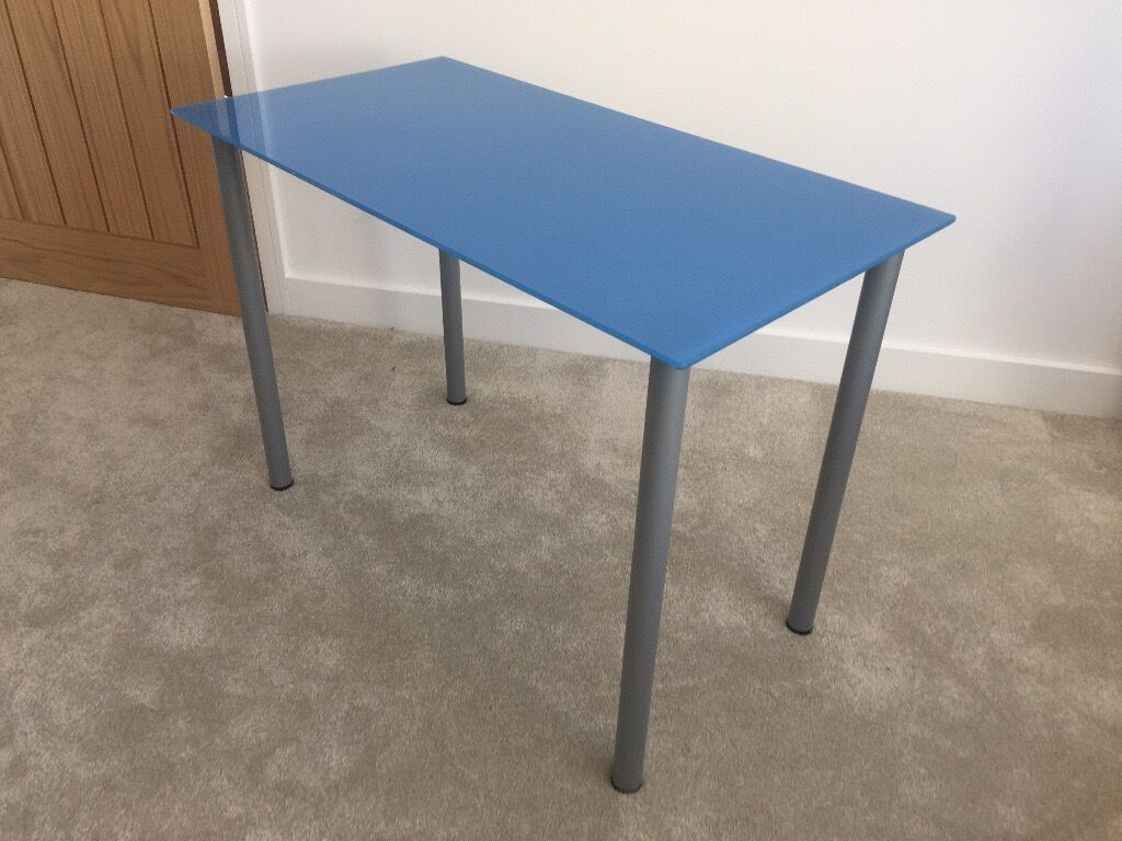 Ikea Blue Glass Table Desk