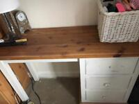 Solid wooden dressing table with matching draw chest