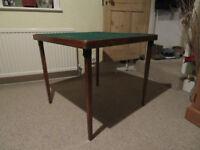 Vintage large folding wooden card table