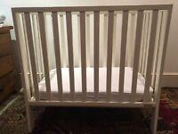 Mamas and Papas petite / space saver cot plus mattress for sale!