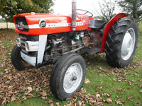 MASSEY FERGUSON 135 VINTAGE TRACTOR SEE VIDEO CAN DELIVER WORKING BARGAIN