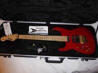 Rare 2012 Left Handed Jackson PC1 signature guitar, Red Rum, Maple Neck, Lefty