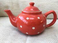 Red polka dot teapot