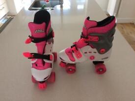 Kids roller skates size 1-4