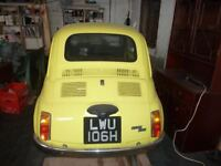 classic fiat 500 completely restored to a high standard
