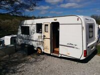 Rally Compass 4 birth 2001 ,on pitch but can be towed away. Great condition with free awning £3250.
