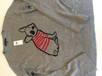 Brand new with tags, Ladies Banana republic French bulldog jumper size M