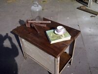 industrial vintage sideboard table butchers block display hall table reclaimed shabby chic
