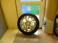 Genuine Full Set Peugeot 308 with 5 studs Alloy wheels & Tyres & Locking nuts. Excellent condition