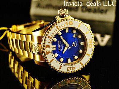 Invicta Men's 47mm Grand Diver Gen II Automatic BLUE Dial 18K Gold IP 300M Watch