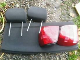 VW POLO PARTS 2001 : rear lights + head rest / 2 wheels