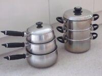 PRESTIGE pan set & CHEF 20cm steamer