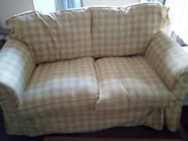 Ikea Yellow Checked Sofa Cover