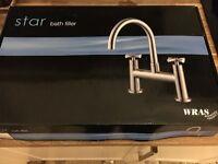 Chrome star bath filler tap, brand new