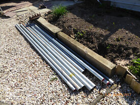 """galvanised pipe suitable for fencing/fence posts unused 10x2""""-15x2.5""""- 8x3""""avg 10ft offers when seen"""