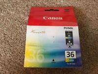 Genuine canon pixma ink cartridges. Colour and black. CLI-36 and PGI-35