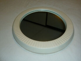 Round ceramic framed mirror