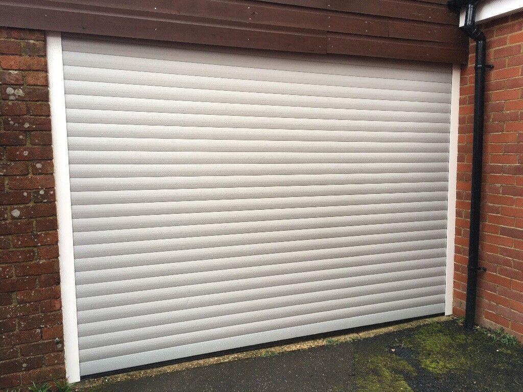 Single Secure Glide Electric Roller Garage Door In Petersfield