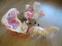 Barbie Horses and Carriage