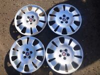 "Fiat Doblo 2009 - 2015 16"" Wheel Trims In excellent condition"