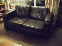 3 piece faux leather suite