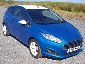 1 Owner 2016 Ford Fiesta 1.25 'Blue' Zetec, Low Mileage, Bluetooth, Aircon, Direct From Main Dealer