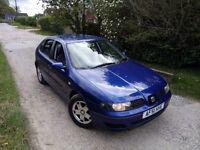 SEAT Leon 1.6 S 16v 10 months MOT 5 door blue