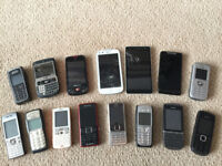 Bundles of retro phones - Nokia, Sony, Samsung, Windows 10