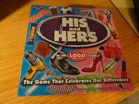 His and Hers Board Game from the Logo range