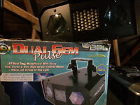 Dual gem pulse Disco DJ light